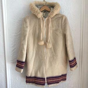 Jackets & Blazers - Pure Virgin Wool Parka with Trim and Sheepskin Ruf